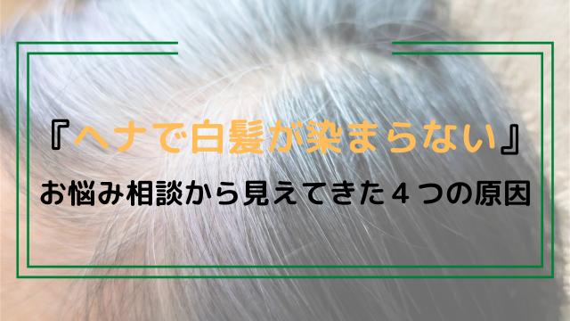 『ヘナで白髪が染まらない』お悩み相談から見えてきた4つの原因