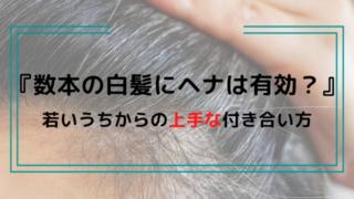 『数本のちらほら白髪にヘナは有効?』少ない白髪に使用する注意点